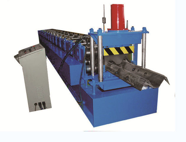 2 Wave Highway Guardrail Roll Forming Machine 2.7 3.0mm Thick Hydraulic Decoiler