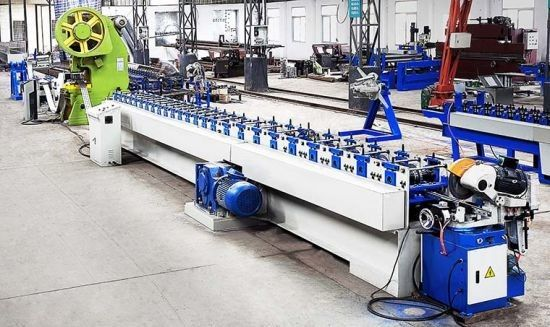 High Accurancy Solar Bracket Roll Forming Machine With Punching System And Rollers